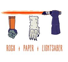 Rock Paper Lightsaber by Devil Olive
