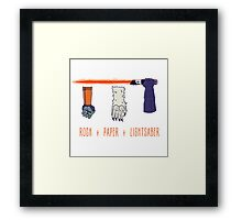 Rock Paper Lightsaber Framed Print