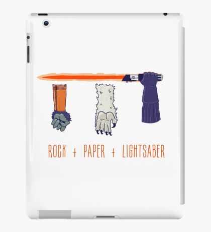 Rock Paper Lightsaber iPad Case/Skin