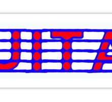Guitar Red White & Blue Sticker