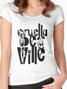 Cruella Deville Women's Fitted Scoop T-Shirt