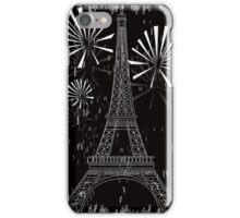 grunge eiffel tower iPhone Case/Skin