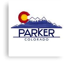 Parker Colorado wood mountains Canvas Print