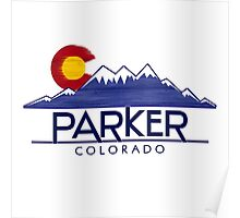 Parker Colorado wood mountains Poster