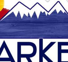 Parker Colorado wood mountains Sticker