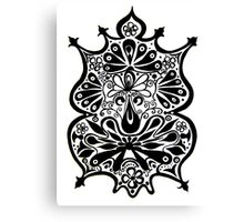 CEM-Black-White-009-Contemporary Ethnic Mix Canvas Print