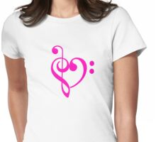 Love clef Womens Fitted T-Shirt