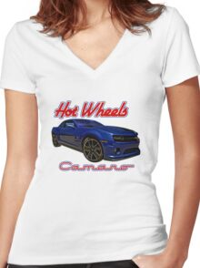 Hot Wheels Camaro Poster Women's Fitted V-Neck T-Shirt