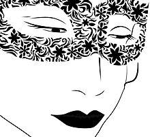 woman in the mask by Marishkayu