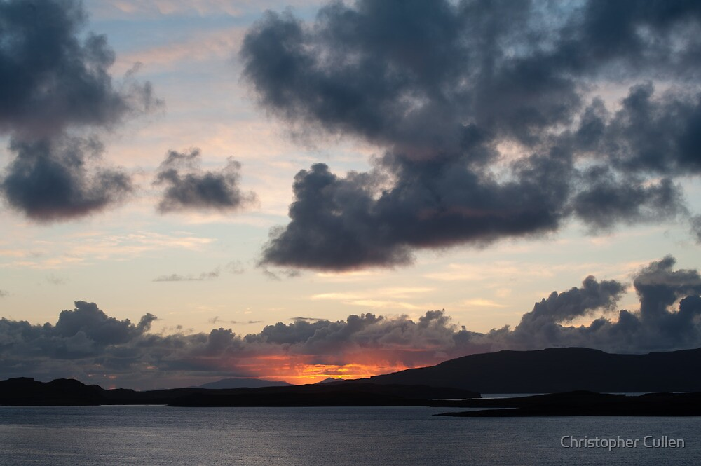 Skye sunset - harrapool by Christopher Cullen