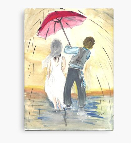 Watercolor Wedding Canvas Print