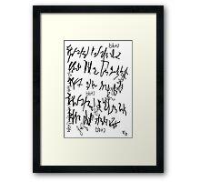 064 Framed Print