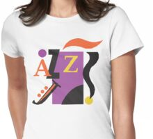 Mardi Gras Jazz Womens Fitted T-Shirt