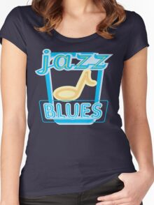 Mardi Gras Jazz & Blues Women's Fitted Scoop T-Shirt
