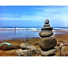 Stacked Rocks Photographic Print