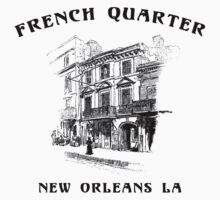 Mardi Gras French Quarter New Orleans by HolidayT-Shirts