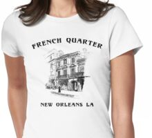 Mardi Gras French Quarter New Orleans Womens Fitted T-Shirt
