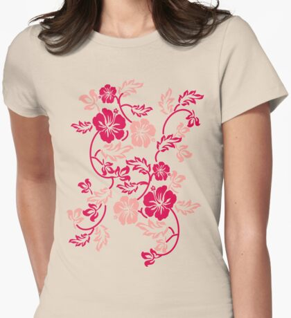 Hawaii Flower Womens Fitted T-Shirt