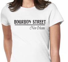 Mardi Gras Bourbon Street New Orleans Womens Fitted T-Shirt