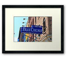 Blue Chicago Club Framed Print