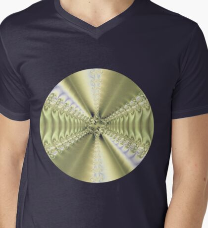 Metallic Star Mens V-Neck T-Shirt