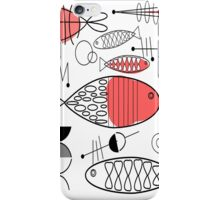 Mid-Century Fish Salmon Pink iPhone Case/Skin