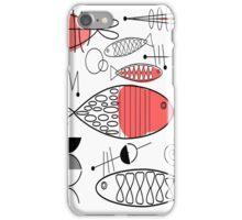 Mid-Century Fish Salmon Pink iPhone Case/Skin