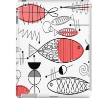 Mid-Century Fish Salmon Pink iPad Case/Skin