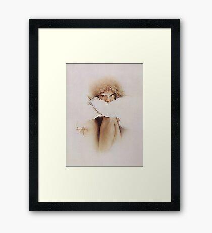 """""""Elaine"""" Oil on Canvas Framed Print"""