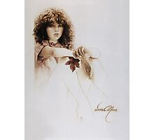 """Girl with Maple Leaf"" Painting in Oils Photographic Print"