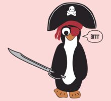 pirate penguin One Piece - Short Sleeve