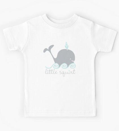 little squirt whale Kids Tee