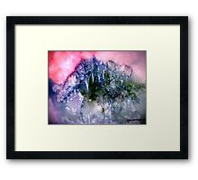Snow In The Hills.. Framed Print