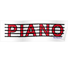 Piano Red II Poster