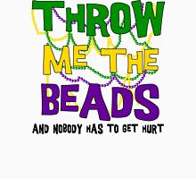 Mardi Gras Throw Me The Beads Womens Fitted T-Shirt