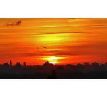 Sunset in New York City  Photographic Print