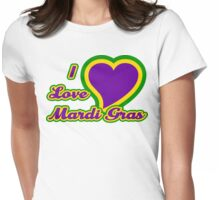 I Love Mardi Gras Womens Fitted T-Shirt