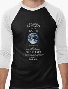 I Pledge Allegiance to the Earth Men's Baseball ¾ T-Shirt