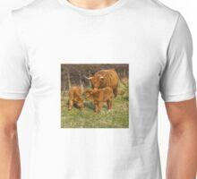 Highland Cow Family Unisex T-Shirt