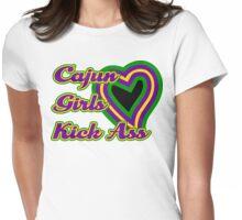 Cajun Girls Kick Ass Womens Fitted T-Shirt