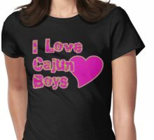 I Love Cajun Boys Womens Fitted T-Shirt