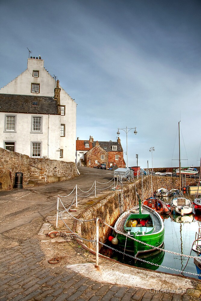 Looking Up From the Harbour at Crail by Christine Smith