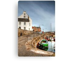 Looking Up From the Harbour at Crail Canvas Print