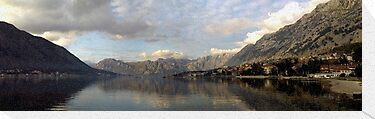 Kotor Bay Panorama by Stephen Maxwell