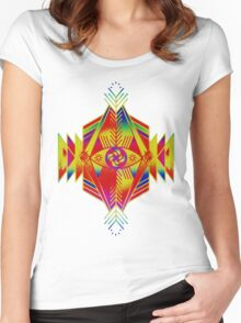 Aztec Shit Women's Fitted Scoop T-Shirt