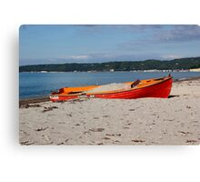 Just a red boat Canvas Print