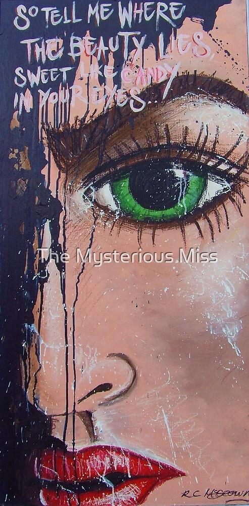 Tell Me Where The Beauty Lies Pop Art Street Art Fairground Art by The Mysterious Miss