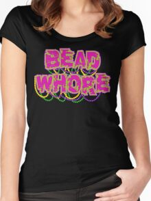 Mardi Gras Bead Whore Women's Fitted Scoop T-Shirt