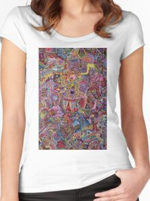ATOMS MOLECULES - LARGE FORMAT Women's Fitted Scoop T-Shirt