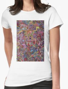 ATOMS MOLECULES - LARGE FORMAT Womens Fitted T-Shirt
